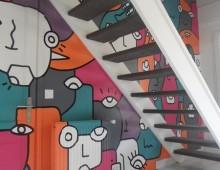 peinture murale chez particulier