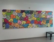 Acrylique sur toile 130×400