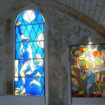 Oeuvres contemporaines de la Chapelle Saint-Sylvain à Nevers.