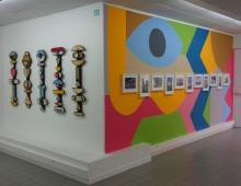 peinture murale + totems bois