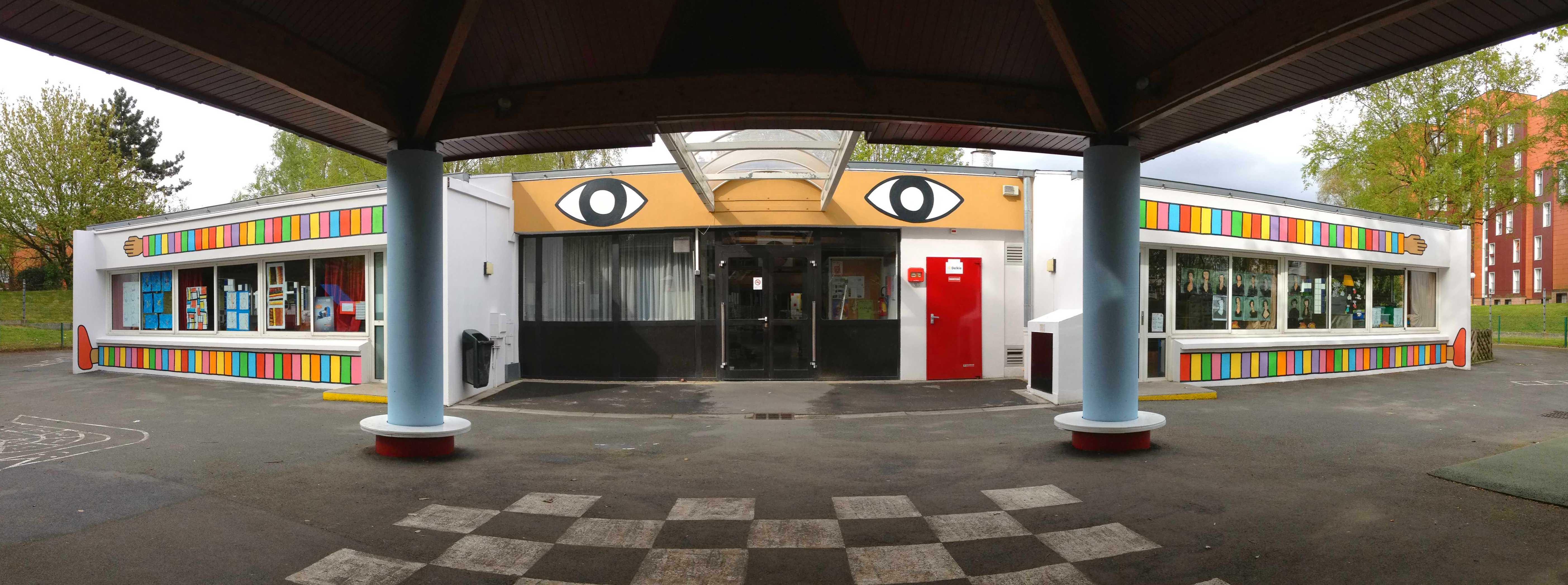 Fresque murale moderne architecture design - Fresque murale moderne ...