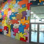 Peinture murale réalisée dans les locaux de Somis / Direct Signalétique